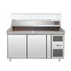Food Machinery of America PT-CN-0390 Refrigerated Counter, Pizza Prep Table