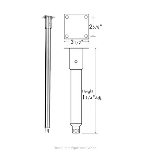 Franklin Machine Products 119-1002 Leg (Magnified)