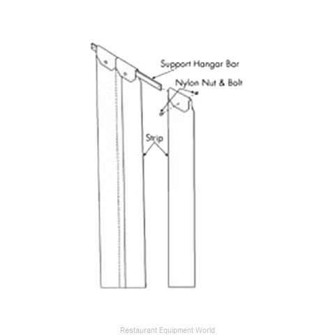 Franklin Machine Products 124-1218 Strip Curtain Unit