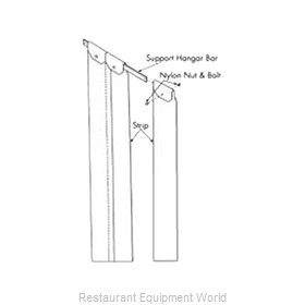 Franklin Machine Products 124-1224 Strip Curtain Unit