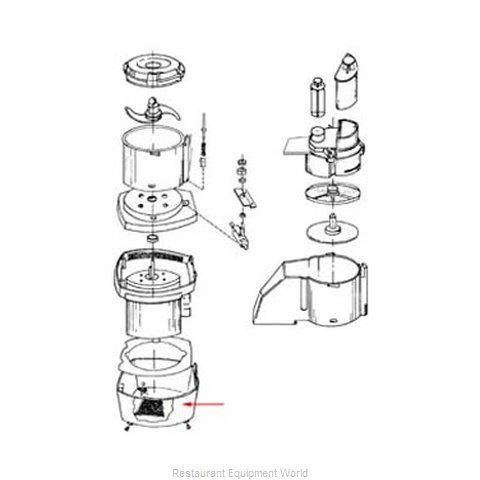 FMP 206-1023 Food Processor Accessories (Magnified)