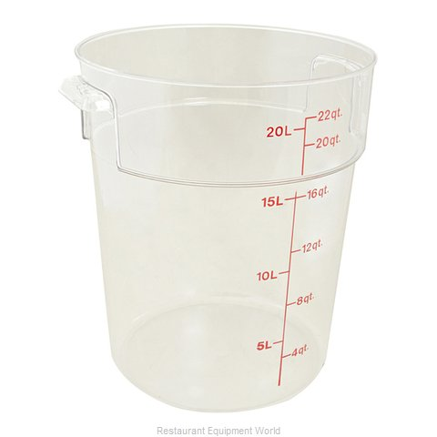 FMP 247-1126 Food Storage Container Round (Magnified)