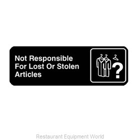 Franklin Machine Products 280-1147 Sign, Compliance