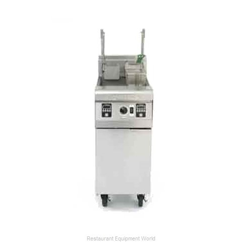 Frymaster MJ35G-BL Fryer Floor Model Gas Full Pot