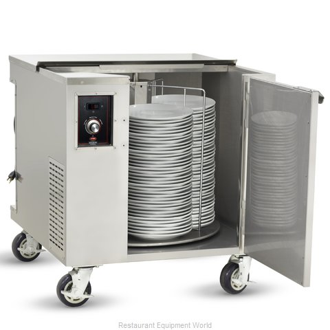 Food Warming Equipment HDC-252-I Cart Heated Dish Storage (Magnified)