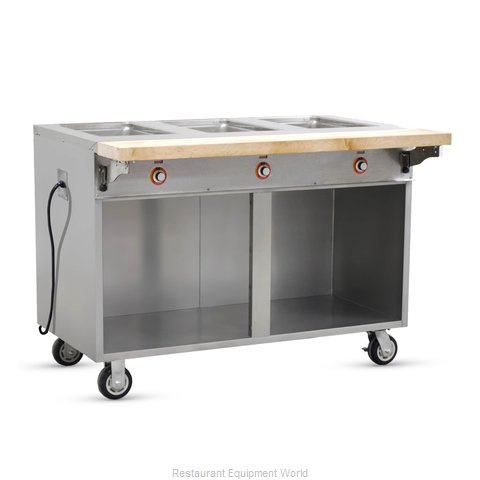 Food Warming Equipment HLC-3W6-1-DRN Serving Counter, Hot Food, Electric
