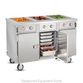 Food Warming Equipment HLC-3W6-7H-21-DRN Serving Counter, Hot Food, Electric