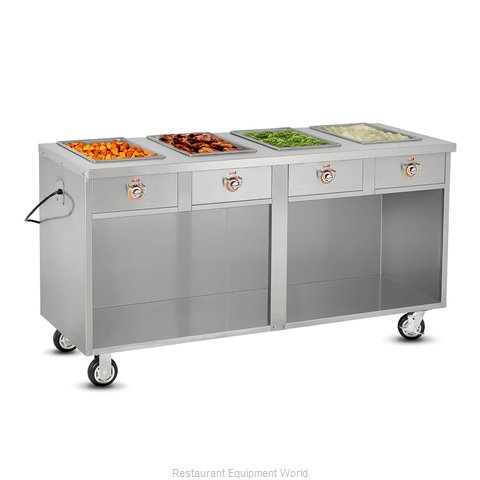 Food Warming Equipment HLC-4W6-1-DRN Serving Counter, Hot Food, Electric