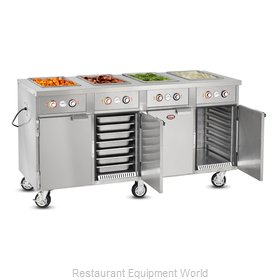 Food Warming Equipment HLC-4W6-7H-28-DRN Serving Counter, Hot Food, Electric