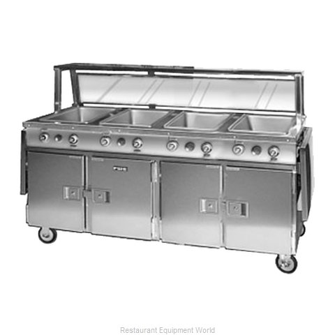 Food Warming Equipment HLC-4W6-7H-28DRN Serving Counter Hot Food Steam Table E