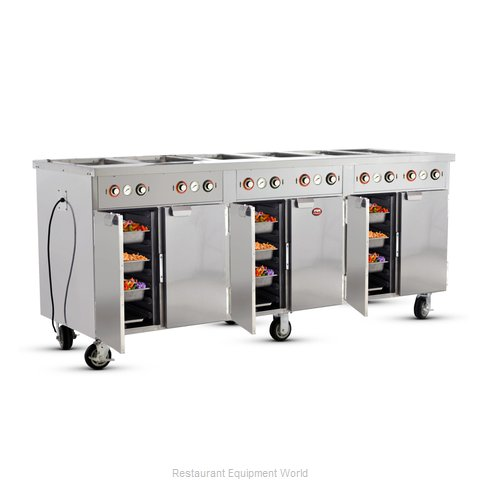 Food Warming Equipment HLC-6W6-7H-42-DRN Serving Counter, Hot Food, Electric