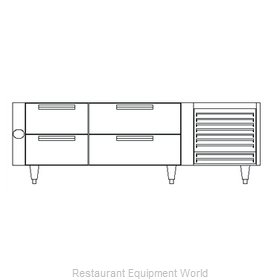 Garland / US Range UN17C72 Equipment Stand, Refrigerated Base
