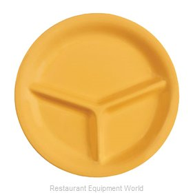GET Enterprises CP-10-TY Plate/Platter, Compartment, Plastic