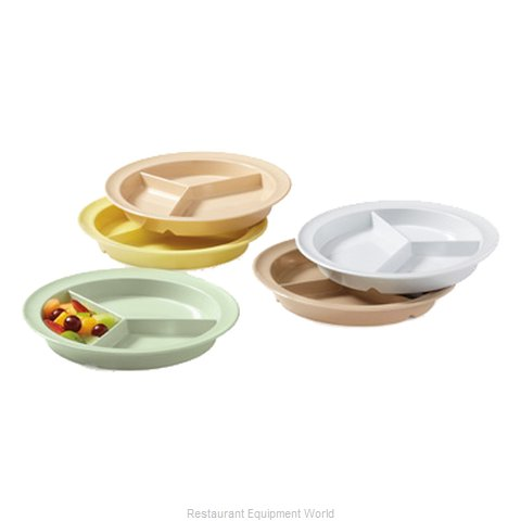 GET Enterprises CP-530-T Plate/Platter, Compartment, Plastic