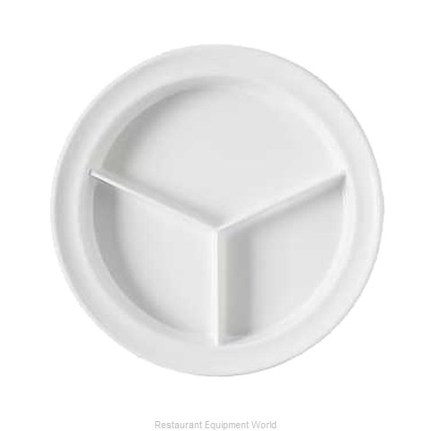 GET Enterprises CP-530-W Plate/Platter, Compartment, Plastic