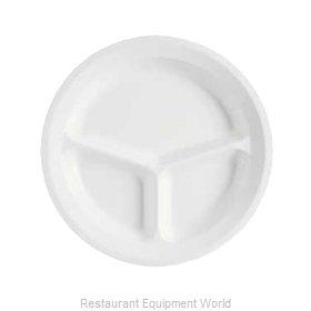 GET Enterprises CP-532-W Plate/Platter, Compartment, Plastic