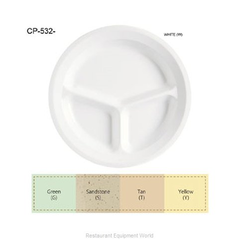 GET Enterprises CP-532-Y Plate Platter Compartment Plastic