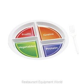 GET Enterprises CP-534-CMP Plate/Platter, Compartment, Plastic