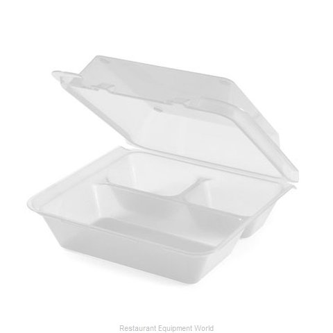 GET Enterprises EC-01-1-CL Carry Take Out Container Plastic (Magnified)