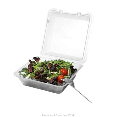 GET Enterprises EC-02-1-CL Carry Take Out Container, Plastic (Magnified)