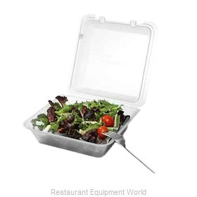 GET Enterprises EC-02-1-CL Carry Take Out Container, Plastic