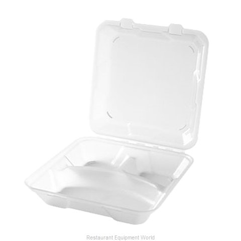 GET Enterprises EC-06-1-CL Carry Take Out Container Plastic (Magnified)