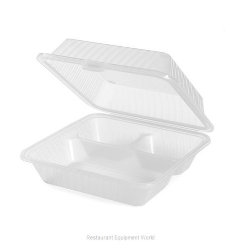 GET Enterprises EC-09-1-CL Carry Take Out Container Plastic