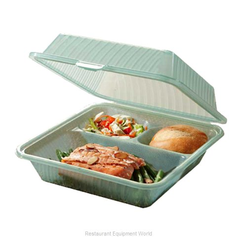 GET Enterprises EC-09-1-JA Carry Take Out Container, Plastic (Magnified)