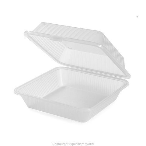 GET Enterprises EC-10-1-CL Carry Take Out Container, Plastic