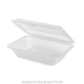 GET Enterprises EC-11-1-CL Carry Take Out Container, Plastic