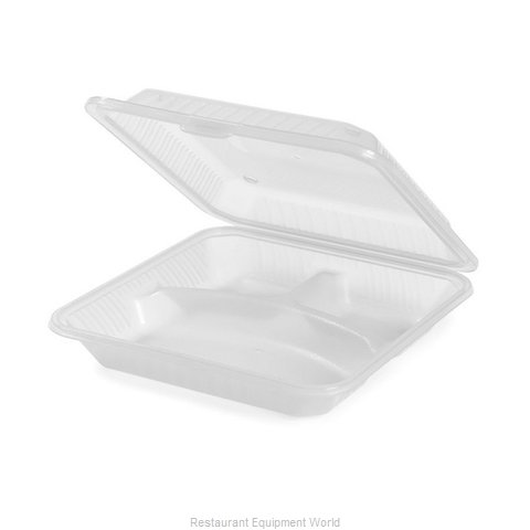 GET Enterprises EC-12-1-CL Carry Take Out Container Plastic (Magnified)