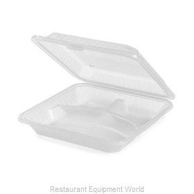 GET Enterprises EC-12-1-CL Carry Take Out Container, Plastic