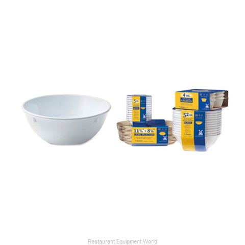 GET Enterprises SP-DN-317-W Nappie Oatmeal Bowl Plastic