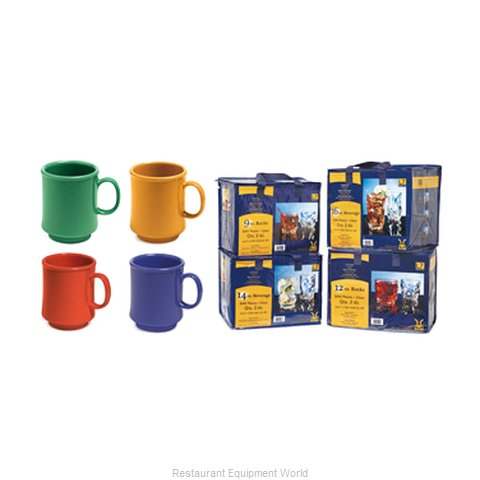 GET Enterprises SP-TM-1308-MIX Mug Plastic