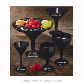 G.E.T. Enterprises SW-1419-SAN-BK Martini Glass