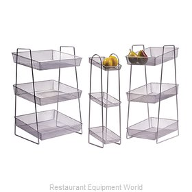 GET Enterprises WB2-3TIER Display Stand, Basket