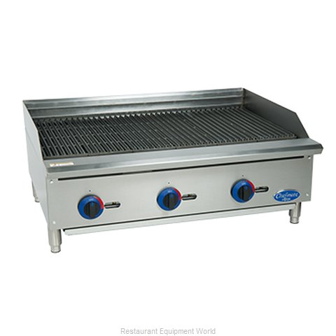 Globe C36CB-SR Charbroiler Hotplate Gas Counter Model (Magnified)