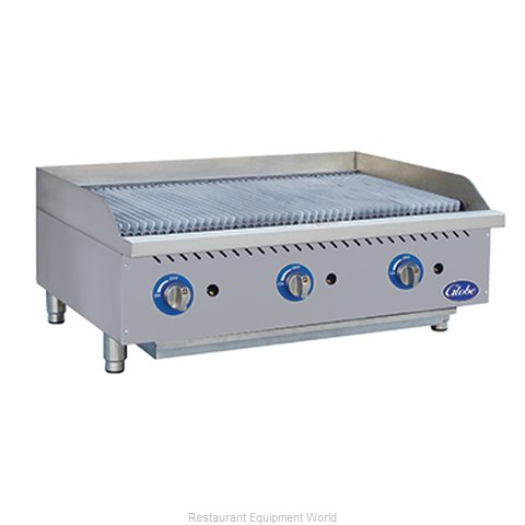 Globe GCB36G-SR Charbroiler Gas Counter Model (Magnified)