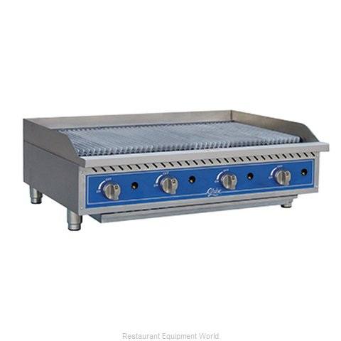Globe GCB48G-SR Charbroiler Gas Counter Model (Magnified)