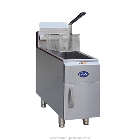 Globe GF15G Fryer, Gas, Countertop Full Pot