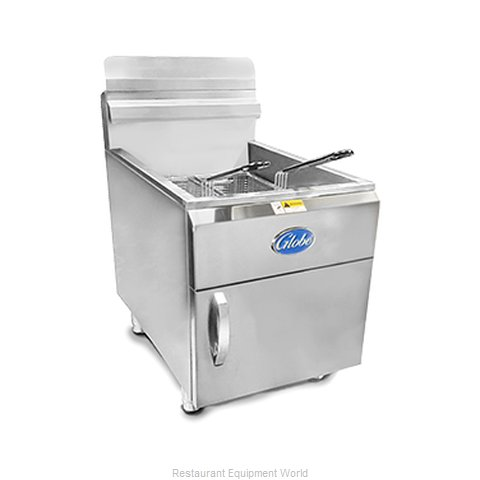 Globe GF30PG Fryer Counter Unit Gas Full Pot (Magnified)