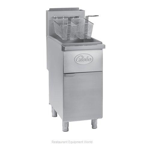 Globe GFF50PG Fryer, Gas, Floor Model, Full Pot