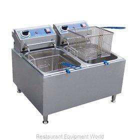 Globe PF32E Fryer, Electric, Countertop, Split Pot