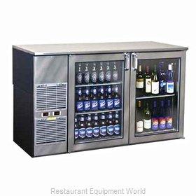 Glastender BB60BW Back Bar Cabinet, Refrigerated