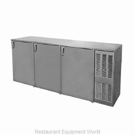 Glastender BB84WR Backbar Cabinet Refrigerated