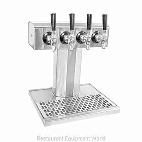 Glastender BT-4-SSR-LD Draft Beer / Wine Dispensing Tower