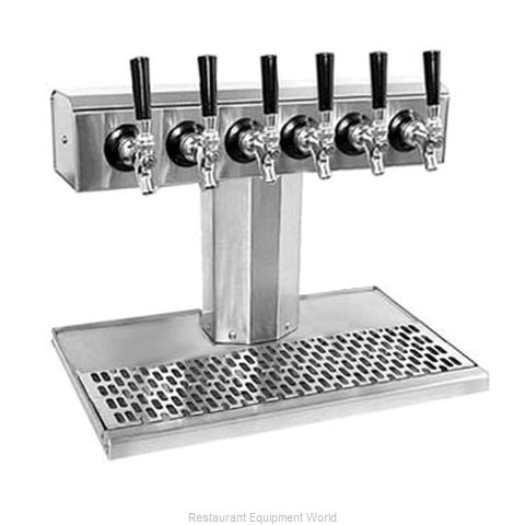Glastender BT-6-SS-LD Draft Beer Dispensing Tower Head Unit (Magnified)