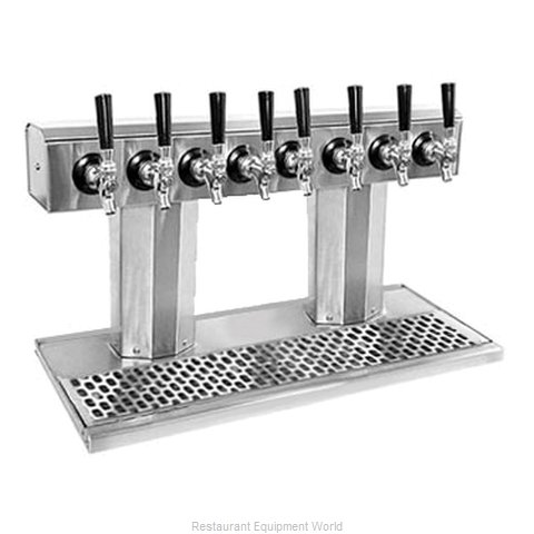 Glastender BT-8-SS-LD Draft Beer / Wine Dispensing Tower (Magnified)