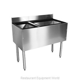 Glastender C-CBA-36L-CP10 Underbar Ice Bin/Cocktail Station, Bottle Well Bin