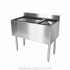 Glastender C-CBA-42R-CP10 Underbar Ice Bin/Cocktail Station, Bottle Well Bin